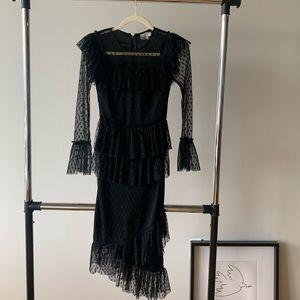Mesh Lace Black Dress